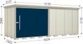タクボ物置 Mr.ストックマンダンディ ND-5019 標準型 一般型 幅5079×奥行1922×高さ2110mm