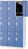 SLBB-9-S2 (シリンダー錠・扉色 ブルー) SEIKO FAMILY 生興 9人用ロッカー 幅900×奥行515×高さ1800mm