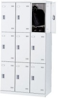 SLBW-9-S2 (シリンダー錠・扉色 ホワイト) SEIKO FAMILY 生興 9人用ロッカー 幅900×奥行515×高さ1800mm