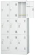 スチール9人用ロッカー※ダイヤルロック式(受注生産・納期約1ヶ月) TLK-D9N 幅900×奥行515×高さ1790