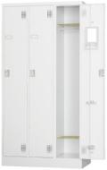 スチール3人用ロッカー※内筒交換錠(受注生産・納期約1ヶ月) TLK-N3 幅900×奥行515×高さ1790