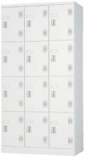 [外付扉型]スチール12人用ロッカー※シリンダー錠 (受注生産・納期約1ヶ月)ULK-S12N  幅900×奥行515×高さ1790