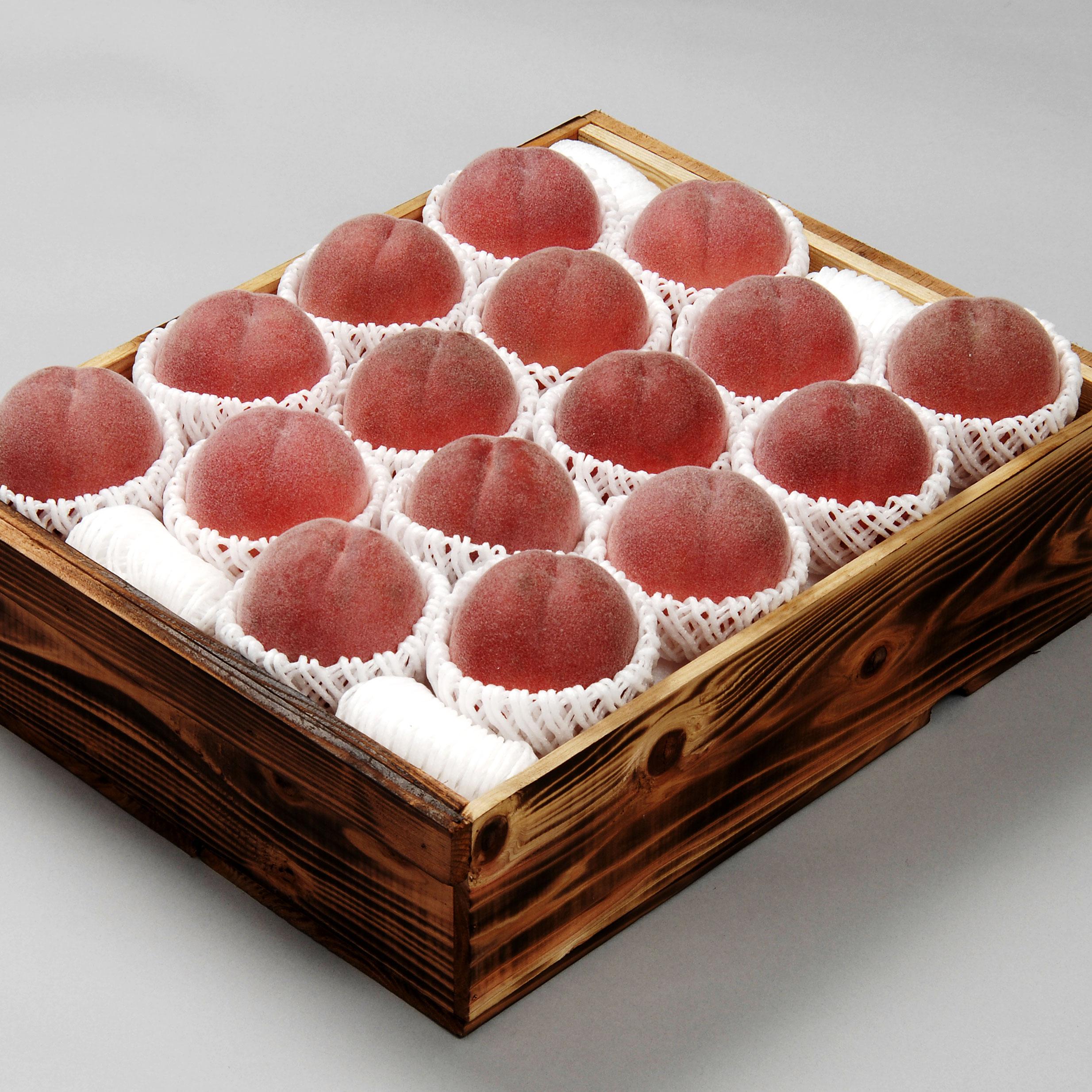山梨県産水蜜桃 4.5kg(15~16玉)木箱【126】