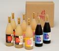 信州産 果汁100%フルーツジュースセット 780ml×8本(りんご3本,ピーチ3本,ぶどう2本)【713】送料無料