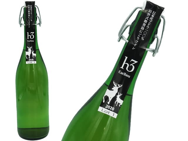 ヒトミワイナリー 微発泡にごりワイン h3 Caribou カリブ 2020 Lot1 白・辛口