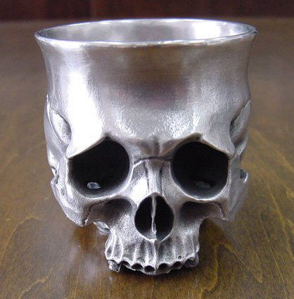 髑髏ぐい呑み Skull-shot glass-3  BURDEN OF PROOF BOFP-247