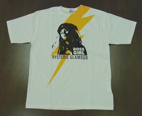 HYSTERIC GLAMOUR ヒステリックグラマー 2021年・春夏新作 BOSS GIRL Tシャツ 02211CT24
