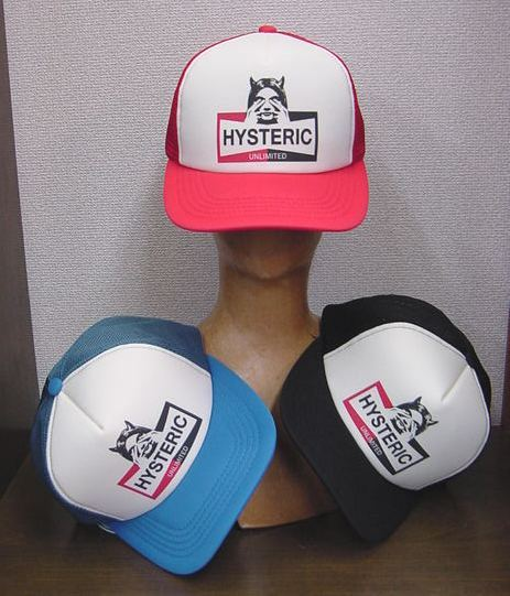 HYSTERIC GLAMOUR ヒステリックグラマー 2021年・春夏新作 HYSTERIC UNLIMITED メッシュキャップ 02211QH019