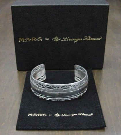LOUNGE LIZARD ラウンジリザード 2015年 MARS 25周年記念 Wネーム シルバーバングル 9200