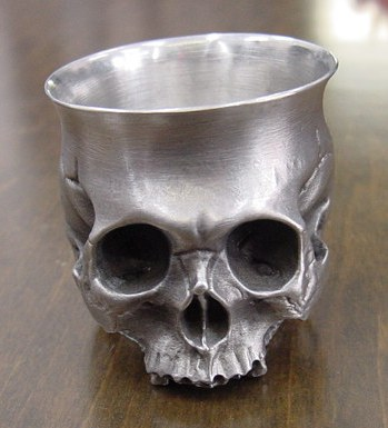 髑髏ぐい呑み Skull-shot glass-1  BURDEN OF PROOF BOFP-196