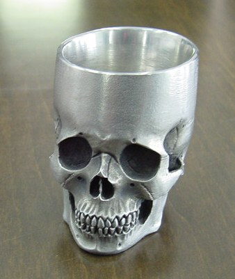 髑髏ぐい呑み Skull-shot glass−2  BURDEN OF PROOF BOFP−210