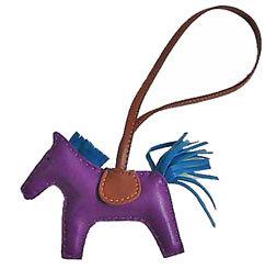 エルメスロデオ「GRIGRIRODEO」馬革チャームGMアネモ×ブルーイズミール