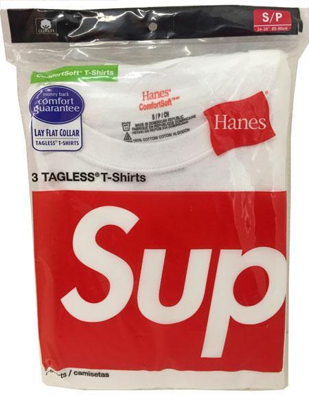 新品アメリカ購入SUPREME×Hanes3パックTシャツ白Sサイズ
