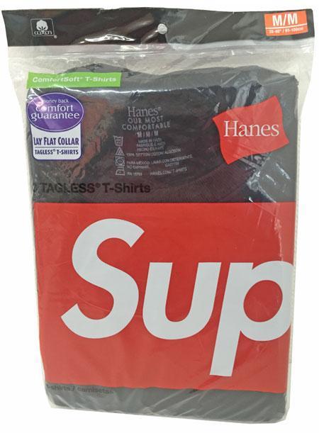 新品アメリカ購入SUPREME×Hanes3パックTシャツ黒Mサイズ