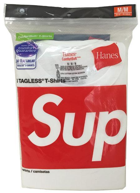 新品アメリカ購入シュプリームSupreme×Hanes3パックTシャツ白Mサイズ