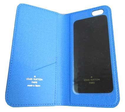 ≪送料無料≫箱のラッピングルイヴィトン「iphone6・フォリオ」モノグラム×ブルー二つ折り携帯ケースアクセサリーモバイルM61618