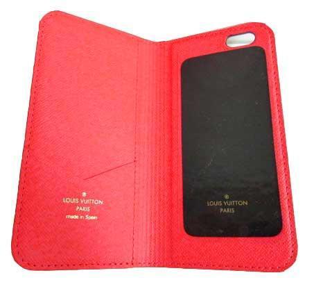 ≪送料無料≫箱のラッピングルイヴィトン「iphone6・フォリオ」モノグラム×ルージュ赤二つ折り携帯ケースアクセサリーモバイルM61616