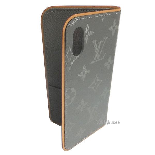 ≪新品≫ルイヴィトン 2018年秋冬 メンズコレクション モノグラムチタニウム フォリオ グレー iphone X 10 M63241 グレー  二つ折り 携帯ケース アアクセサリー モバイル LOUISVUITTON ビトン プレゼントラッピング