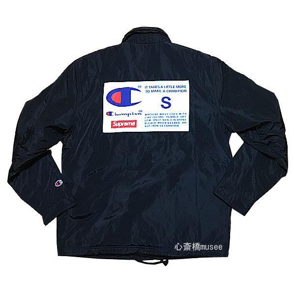 ≪新品≫ Supreme 18aw Champion Label Coaches Jacket Black S シュプリーム チャンピオン コラボ コーチジャケット ブラック 黒 Sサイズ