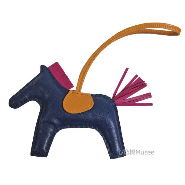 《新品》エルメス ロデオ 「GRIGRI RODEO」 馬 革 バッグ チャーム MM ブルードマルト ジョーヌ ローズパープル アニューミロ(ラム)  箱 リボン ラッピング