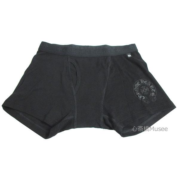 正規品 新品 CHROMEHEARTS クロムハーツ SHORT BOXER ショート ボクサー パンツ 黒 L BLACK ブラック 箱