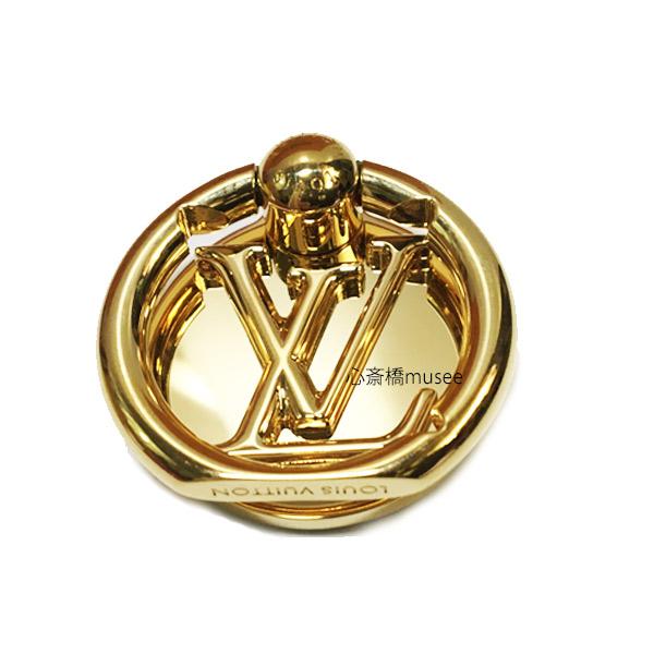 LOUIS VUITTON ルイヴィトン フォンリング ルイーズ M64290 フォン アクセサリー ゴールド LV スマホ iPhone 箱 リボン