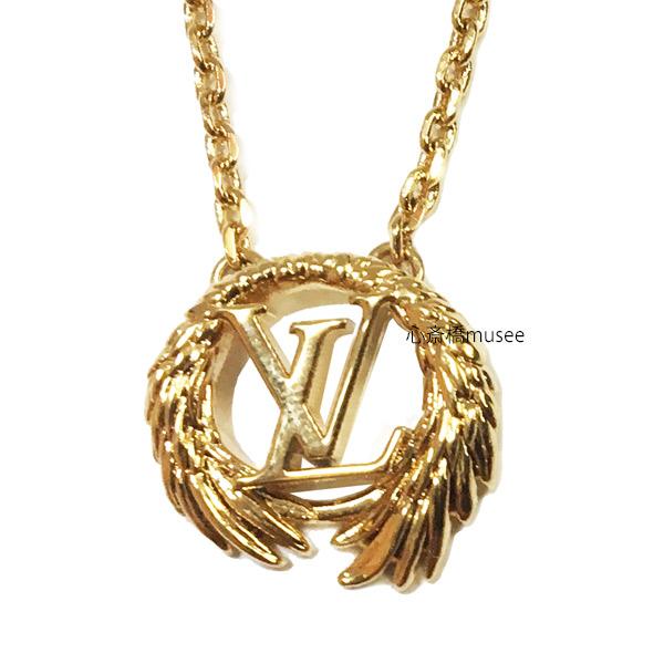 ≪新品≫ Vuitton ルイヴィトン コリエ・エンジェル M64291 ネックレス ゴールドカラー LV ビトン LVサークル 箱 リボン ラッピング