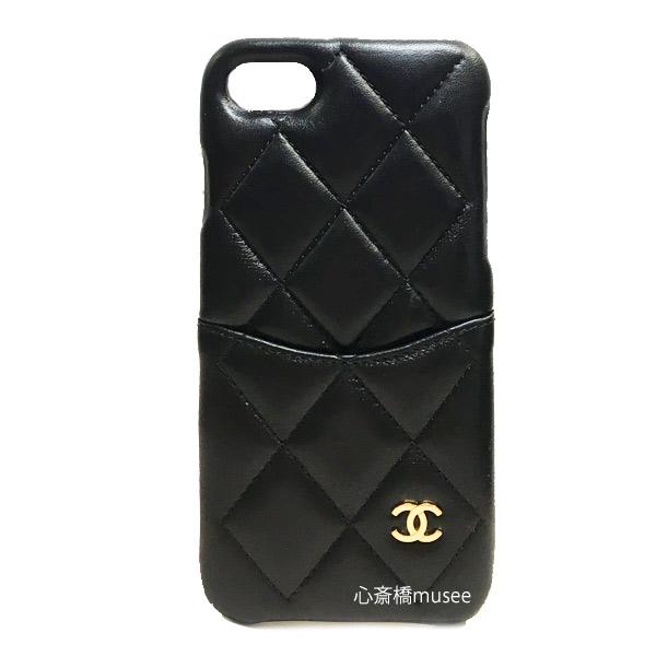 ≪新品≫ CHANEL シャネル 19クルーズ 携帯ケース iphone7 8  19C A83563 黒×ゴールド金具 マトラッセ 新品 箱・リボンでのラッピング