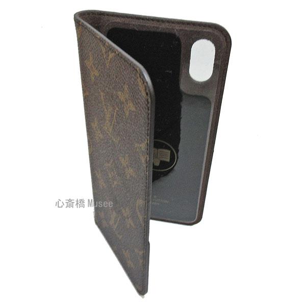 ≪新品≫ルイヴィトン モノグラム フォリオ iPhone XS MAX 10S MAX マックス 二つ折り スマホ 携帯ケース アルマニャック 茶 M67480 アクセサリー モバイル 箱 リボン ラッピング LOUISVUITTON アイフォン ビトン