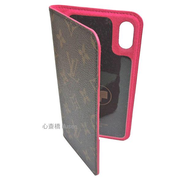 ≪新品≫ルイヴィトン モノグラム フォリオ iPhone XS MAX 10S MAX マックス 二つ折り スマホ 携帯ケース ローズポップ ピンク M67481 アクセサリー モバイル 箱 リボン ラッピング LOUISVUITTON アイフォン ビトン