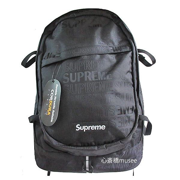 ≪新品≫ Supreme 19ss SUPREME Backpack Cordura Blackシュプリーム バックパック リュックサック 新作 ブラック 黒