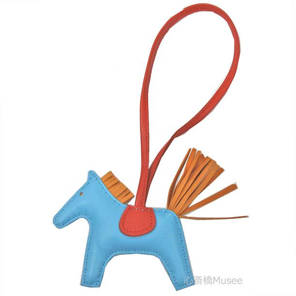 《新品》エルメスロデオ「GRIGRIRODEO」馬革バッグチャームPMローズパープルマラカイトブルーエレクトリック箱リボンラッピング
