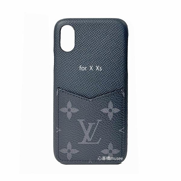≪新品≫ルイヴィトン iphone X Xs 10 10S バンパー モノグラムエクリプス スマホ 携帯ケース アクセサリー モバイル M67806 黒 LOUISVUITTON ビトン プレゼントラッピング