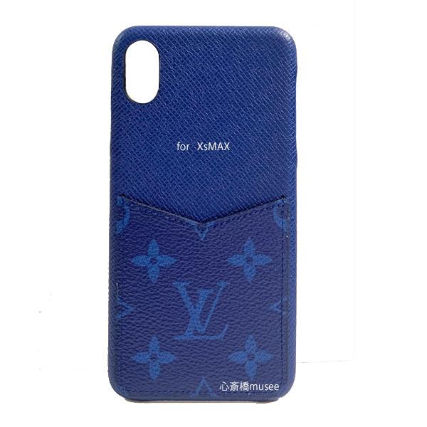 ≪新品≫ルイヴィトン バンパー iphone XS MAX 10S MAX XMAX バンパー タイガラマ コバルト ブルー M30273 スマホ 携帯ケース アクセサリー モバイル ブルー LOUISVUITTON ビトン