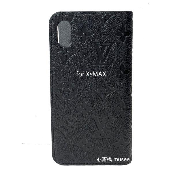 ≪新品≫ルイヴィトン フォリオ iphoneXS MAX 10S MAX モノグラム アンプラント ノワール 黒 ブラック モバイル M68592 二つ折り 手帳型 携帯ケース アクセサリー LOUISVUITTON ビトン スマホ ケース 新品・LV箱でのラッピング
