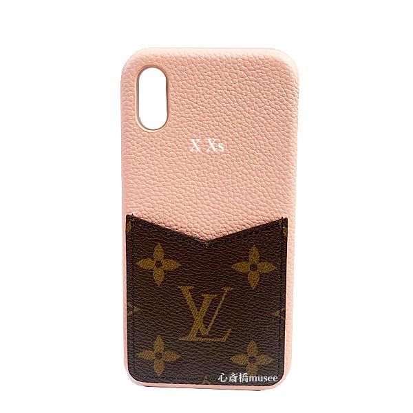 ≪新品≫ルイヴィトン iphone X Xs 10 10S バンパー カーフレザー モノグラム×ローズプードル ピンク スマホ 携帯ケース アクセサリー モバイル M68892 LOUISVUITTON ビトン アイフォン ケース プレゼントラッピング