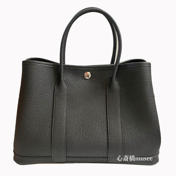 ≪新品≫ HERMES エルメス ガーデンパーティー 30 TPM ネゴンダ オールレザー 型押し 黒 ブラック ≪Brand new≫ HERMES Garden Party 30 TPM Negonda Noir Black  All leather