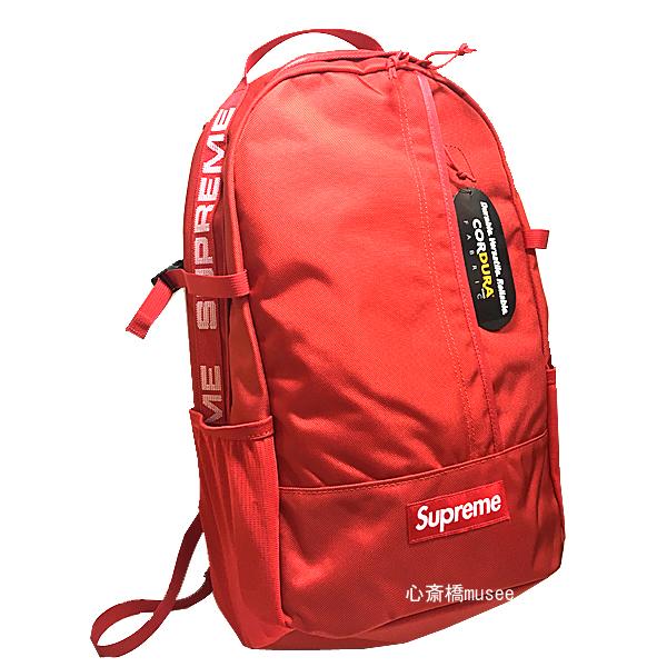 新品 18SS Supreme backpack RED バックパック リュック 赤