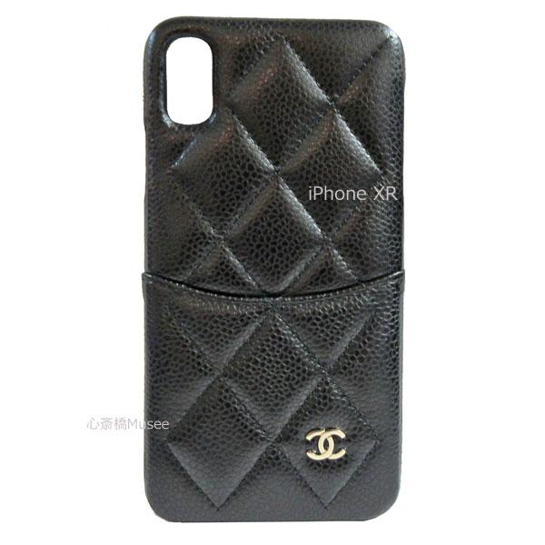 ≪新品≫シャネル 2020年クルーズ CC クラッシックケース 携帯ケースiphone10R XR ブラック 黒 ゴールド金具 AP0371 B01291 キャビアスキン グレインドカーフスキン CHANEL スマホケース アイフォーン 箱 ラッピング