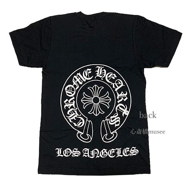 ≪新品≫正規品 クロムハーツ メンズ Tシャツ ブラック 黒 Los Angeles限定 ホースシュー Sサイズ Chrome hearts 日本未入荷 ロサンゼルス