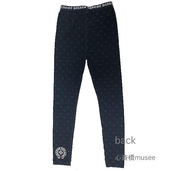 正規品 新品 CHROMEHEARTS クロムハーツ レギンス レディース ロゴ×黒 XSサイズ BLACK ブラック ロゴ ホースシュー クロス・CH・タガー・フローラル 箱