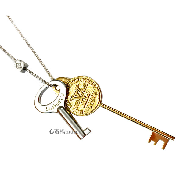≪新品≫LOUIS VUITTON ルイヴィトン ネックレス  コリエ・LVキー  MP2842 ゴールド LV ビトン ヴィトン 鍵 key 箱 リボン ラッピング