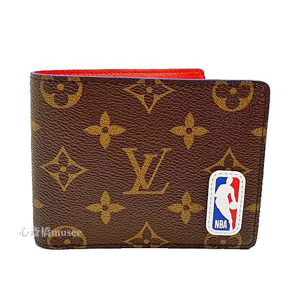 ≪新品≫ ルイヴィトン × NBA コラボ ポルトフォイユ・ミュルティプル 二つ折り財布 M80105 LOUIS VUITTON × NBA 箱のラッピング 2020年限定 ヴァージルアブロー バスケットボール
