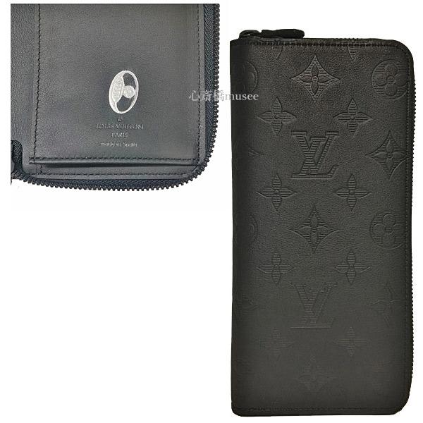 ≪新品≫ルイヴィトン LOUIS VUITTON ジッピーウォレット・ヴェルティカル モノグラム・シャドウ M62902 モノグラムフラワー ラグビーボール シーズナルスタンプ刻印 レザー ブラック 黒 長財布 箱のラッピング