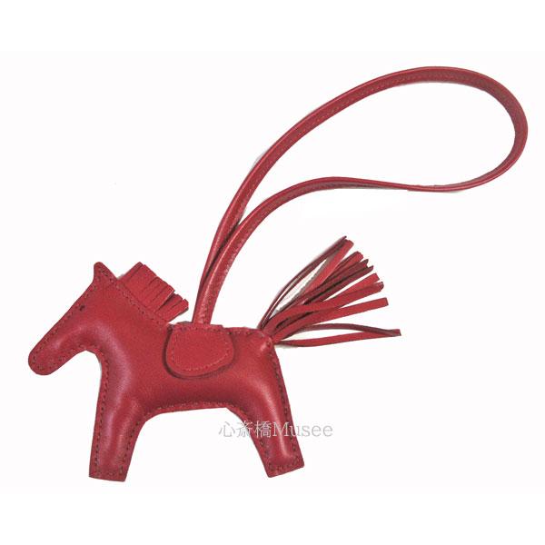 《新品》エルメス ロデオ 「RODEO」 馬 革 バッグ チャーム PM ルビー Ruby 箱 リボン ラッピング HERMES
