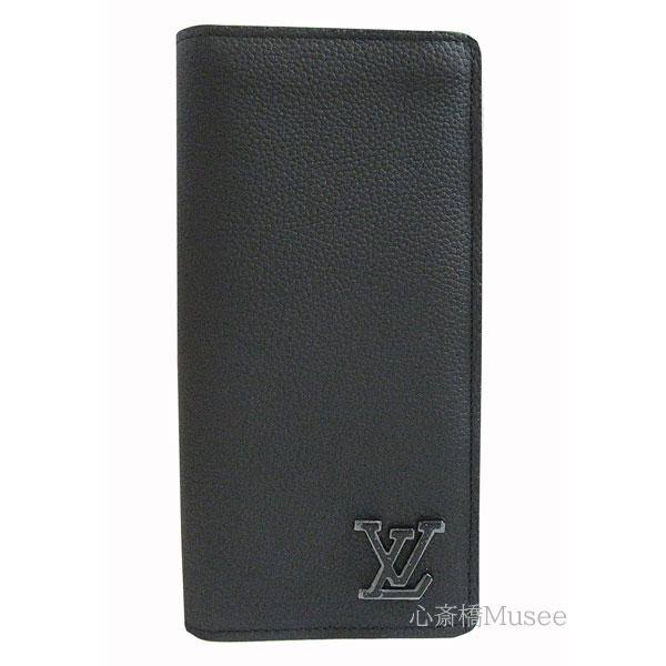 ≪新品≫ルイヴィトン ポルトフォイユ ブラザ LV アエログラム M69980 二つ折り財布 黒 ブラック 長財布 箱 リボン ラッピング LOUIS VUITTON