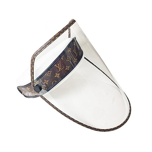 ≪新品≫ ルイ・ヴィトン フェイスシールド バイザー LV シールド M76727   Visiere LV Shield マロン M76727 Louis Vuitton Marron 新品 箱のラッピング Face Shield