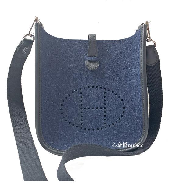 ≪新品≫ エルメス エヴリン MiniTPM アマゾン ブルーニュイ シルバー金具フエルト ネイビー エブリン Y刻印 Hermes Evelyne 16 TPM Bleu Nuit FELT Silver harswear