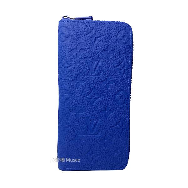 ≪新品≫ルイヴィトン モノグラム ジッピーウォレット トリヨンレザー ネオンブルー M80791 長財布  ラウンドファスナー ジップ ZIP Blue LOUISVUITTON 箱 リボン ラッピング