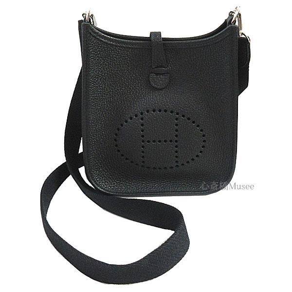 ≪新品≫ エルメス エヴリン 16 Mini TPM アマゾン 黒 ブラック シルバー金具 トリヨン ショルダーバッグ Z刻印 Hermes Evelyne 16 TPM  Black/Silver harswear エブリン